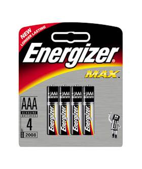 Energizer Max AAA 4 pack