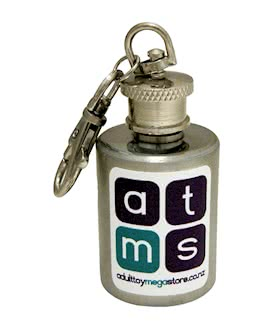 Lube container key ring 1oz