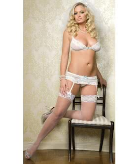 Mesh Sequin Garter Set