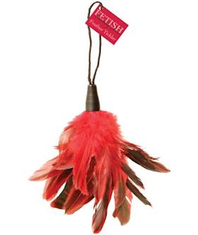 FEATHER TICKLER W/WRIST STRAP RED