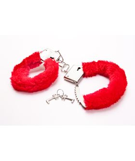 Red Fluffy Hand Cuffs