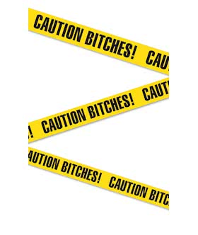 Bachelorette Party Favors - Caution Bitches - Tape