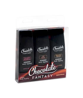 Chocolate Fantasy Body Topping Sampler3-Pack 1.25 oz. (37ml)