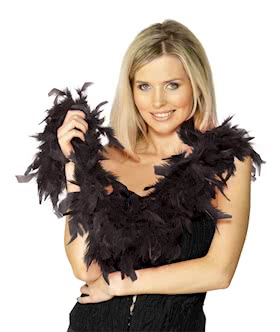 Black Feather Boa