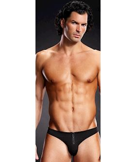 Front zipper mens briefs