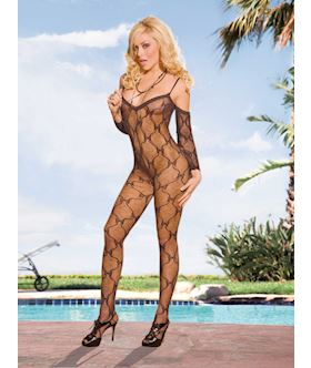 V Neck Bodystocking