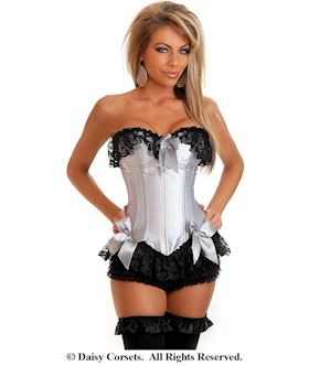 silver seductress burlesque corset