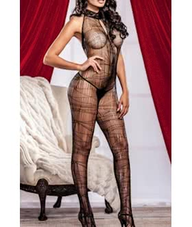 Sultry Spider Web Body Stocking