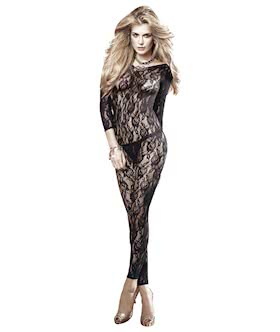 Long sleeve all-over lace catsuit
