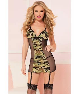 Commander in Chic Chemise Set