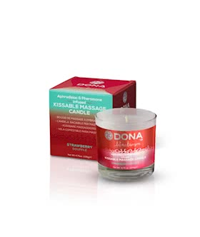 DONA Kissable Massage Candle Strawberry Souffle 7.5oz/222ml