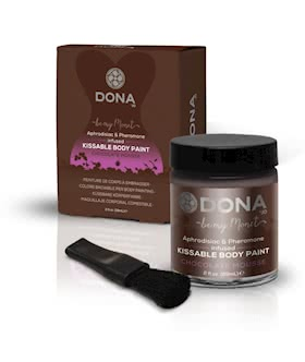 DONA Kissable Body Paint Chocolate Mousse 2oz/59ml
