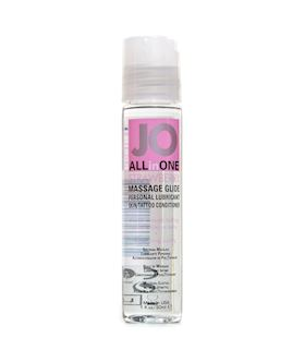 JO Massage Glide Strawberry 1oz 30ml Single