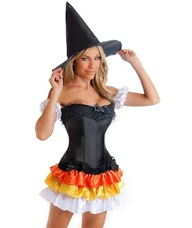 4 pc sexy witch costume