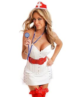 not yet 6 pc sexy nurse costume