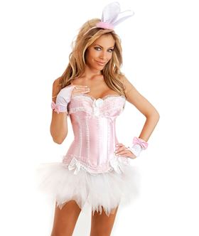 4 pc pink bunny costume