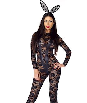 Role Play Lace Catsuit - S M