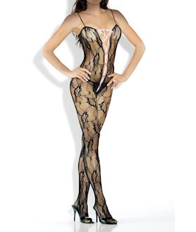 Bodystocking with Lace Up Front