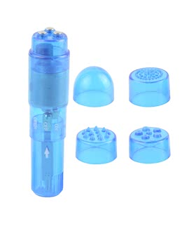 WATERPROOF MINI-MITE VIBRATOR-BLUE