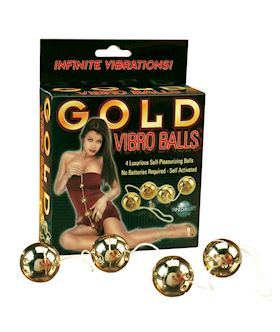 GOLD VIBRO BALLS (4-PC. SET)