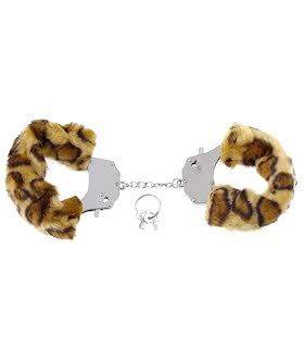 FURRY LOVE CUFFS CHEETAH