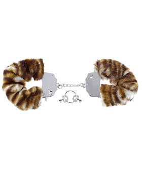 FURRY LOVE CUFFS TIGER