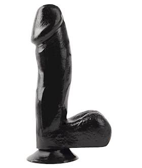 BASIX 6.5 INCH DONG W/SUCTION (BLACK)