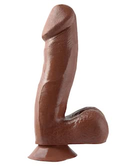 BASIX 6.5 INCH DONG W/SUCTION (BROWN)