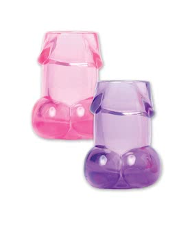 Bachelorette Party Pecker Shot Glasses Asst. Colors
