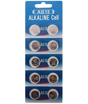 LR44 ag13 357 cell battery alkaline 10 pack