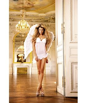 Mesh chemise with bows
