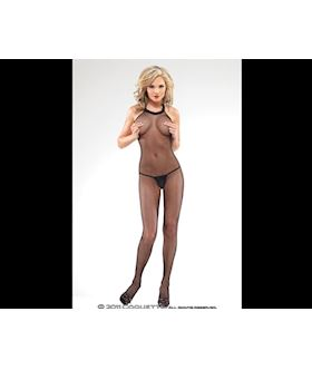 Halter Neck Fishnet Crotchless Bodystocking.