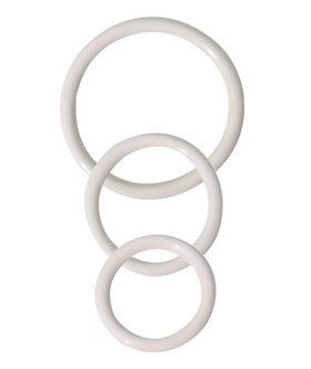 3 Rubber Ring Set - White