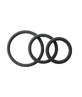 3 Rubber Ring Set - Black