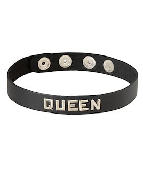 LEATHER COLLAR - QUEEN
