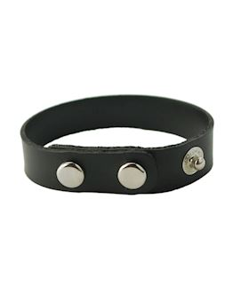 3-Snap Rubber  Cock Ring - Black