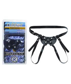 Rubber Dildo Harness - Large
