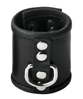 Leather Ball Stretcher with D-Ring - 2.5 Inches