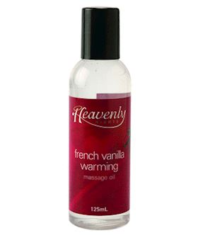 Heavenly Nights Warming Massage Oil French Vanilla
