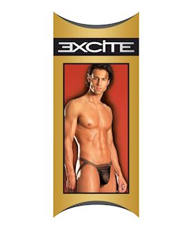 Mens Classic Sheer Stripe Jock Strap