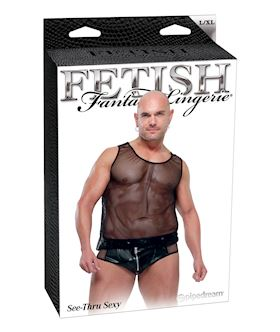 Fetish Fantasy Lingerie Mens See Thru Sexy Large/1XL