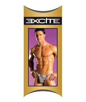 Mens Classic Animal Print Thong O/S Print