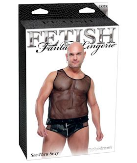 Fetish Fantasy Lingerie Mens See Thru Sexy 2XL/3XL