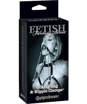 Fetish Fantasy Series Limited Edition O-Ring Gag and Nipple Clamps