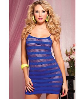Riot Girly Seamless solid and net stripe dress STM 9683P